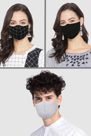 Unisex Cotton Blend Face Mask in Black