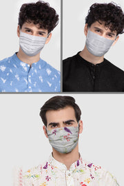 Unisex Cotton Blend Face Mask in White