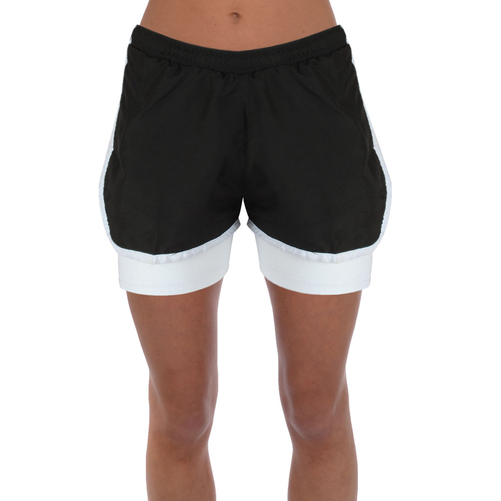 Womens 2-IN-1 Active Wear Shorts