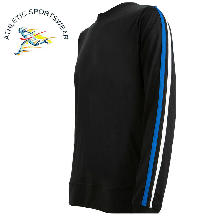 Athletic sportswear stripped sweatshirt for Women polyester fullsleeves crewneck freeshipping - athleticsportswear.co.uk