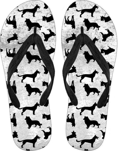 Woman's Dog Solhouette Flip Flops - Deals For Top Trends