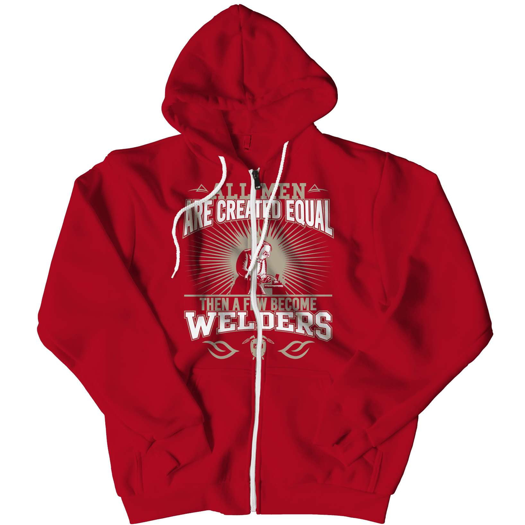 Limited Edition - All Men Are Created Equal Then A Few Become Welders Men's Hoodie - Deals For Top Trends