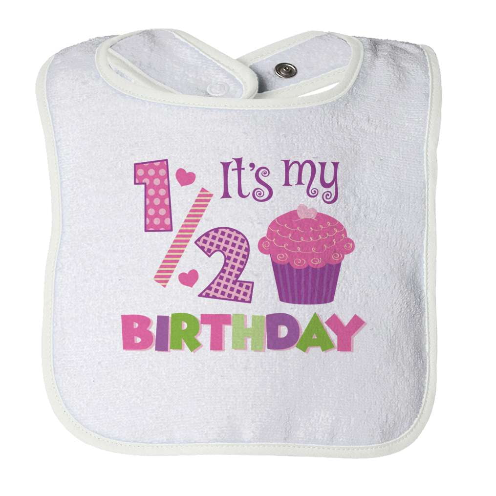Half Birthday- Girl Baby Bib - Deals For Top Trends