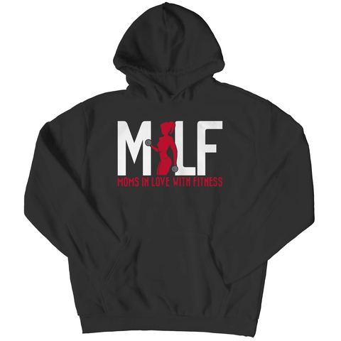 MILF Moms In Love With Fitness Pull Over Hoodie - Deals For Top Trends
