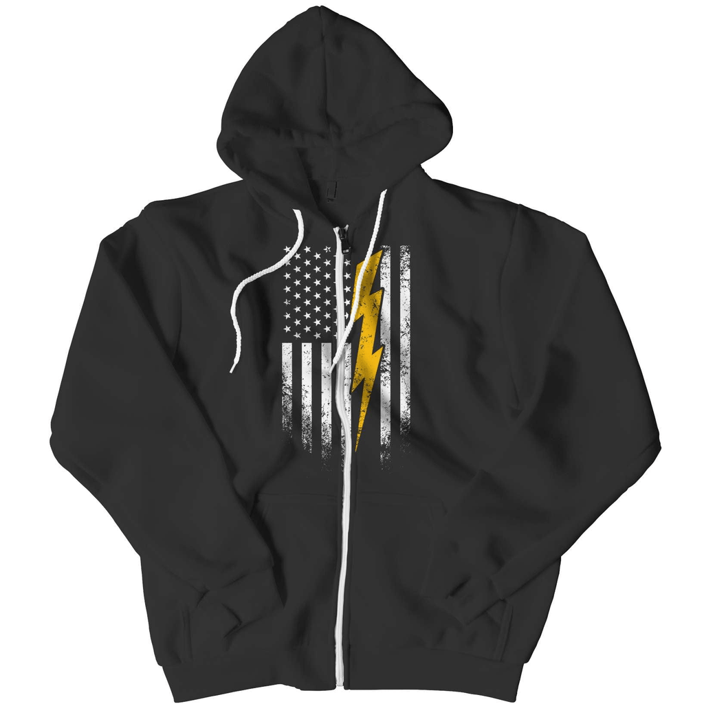 Electricians US Flag Custom Hoodie - Deals For Top Trends