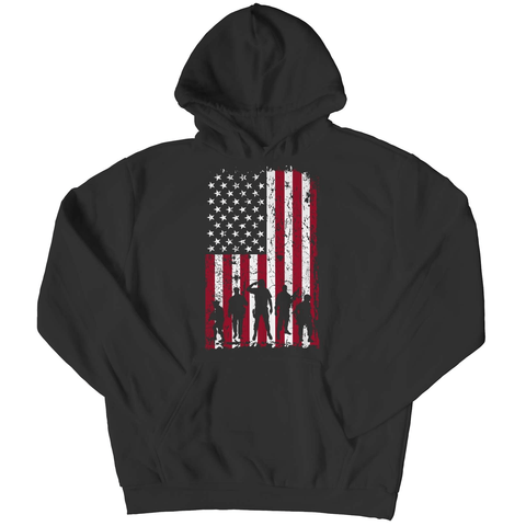 Military Flag Pull Over Hoodie - Deals For Top Trends