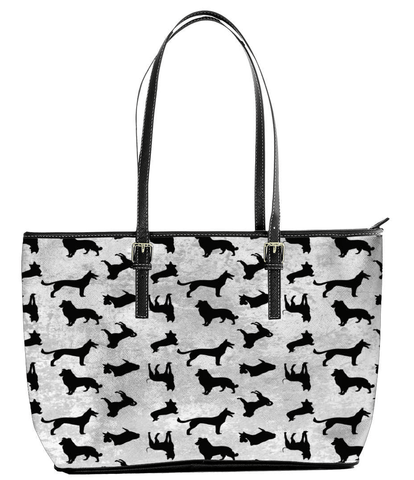Woman's Dogs Solhouette Small Tote Bag - Deals For Top Trends
