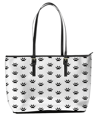 Woman's Cat Paw Print Tote Bag - Deals For Top Trends