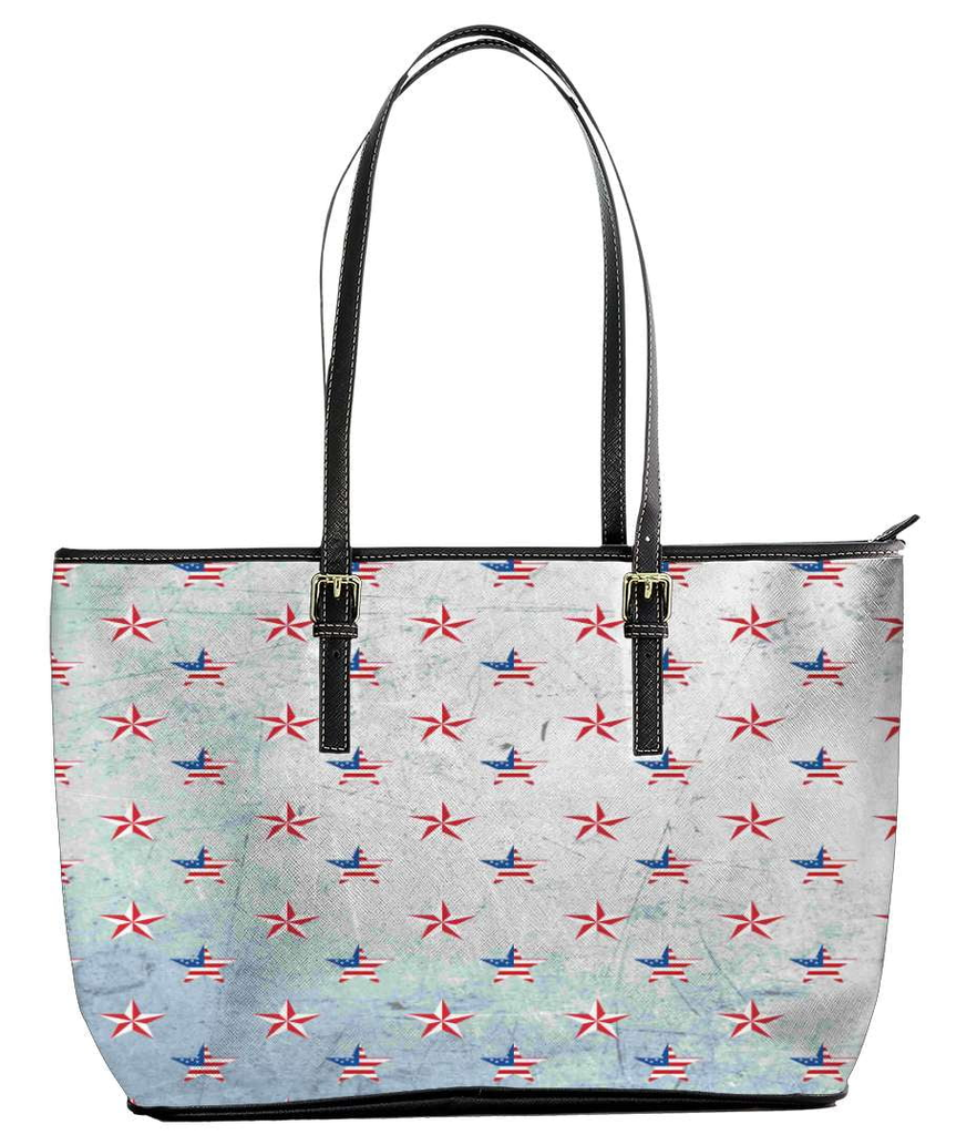 Patriotic Stars Small Tote Bag - Deals For Top Trends