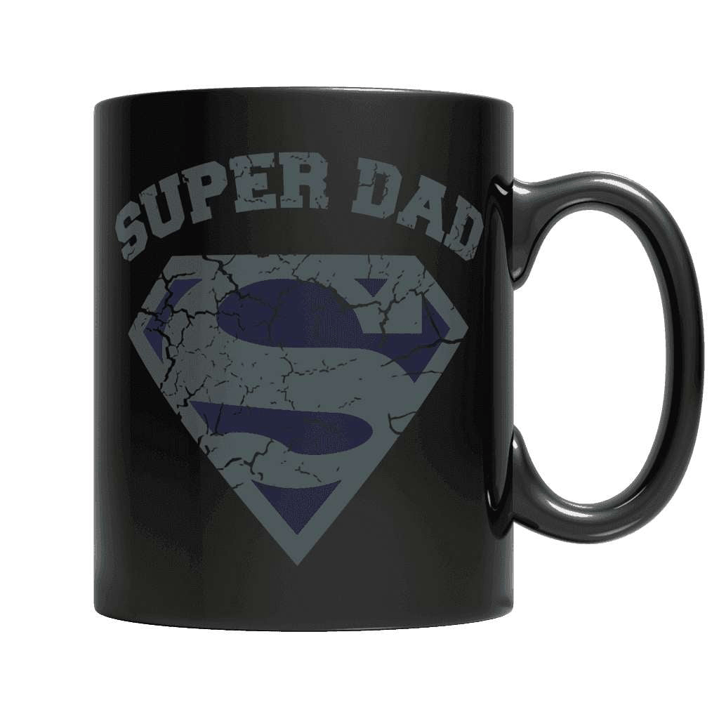 Super Dad Black Mug - Deals For Top Trends