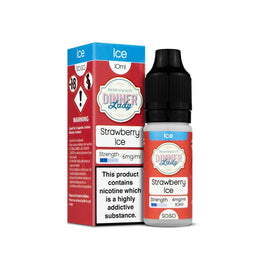 STRAWBERRY ICE E-LIQUID BY DINNER LADY 50/50