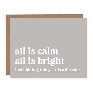 All is Calm Just Kidding  | Card or Boxed Set