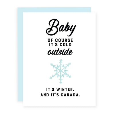 Baby Of Course It's Cold Outside | Card or Boxed Set
