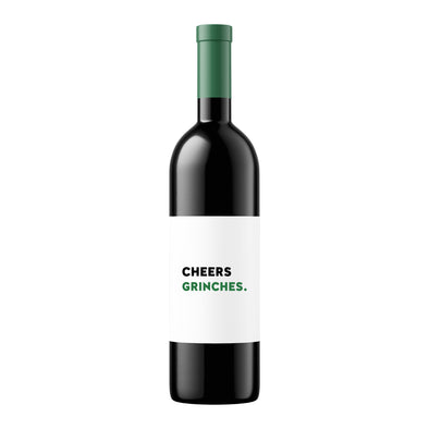 Cheers Grinches | Wine Label