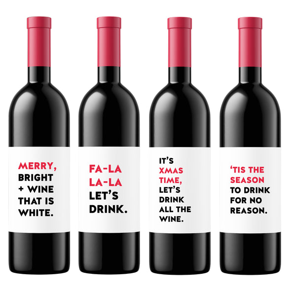 Christmas Drinks | Wine Label Set