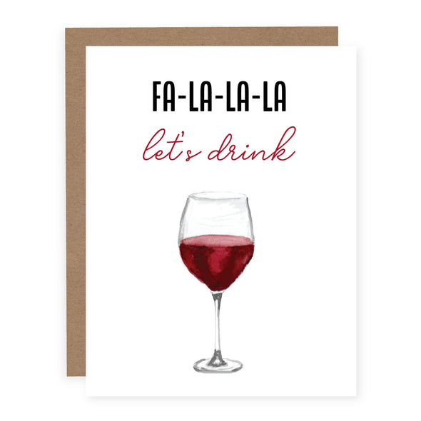 Fa La La La Let's Drink | Card or Boxed Set