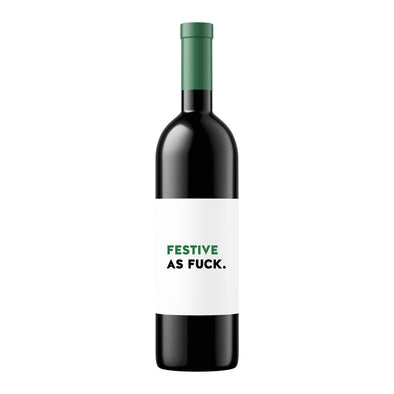 Festive as Fuck | Wine Label