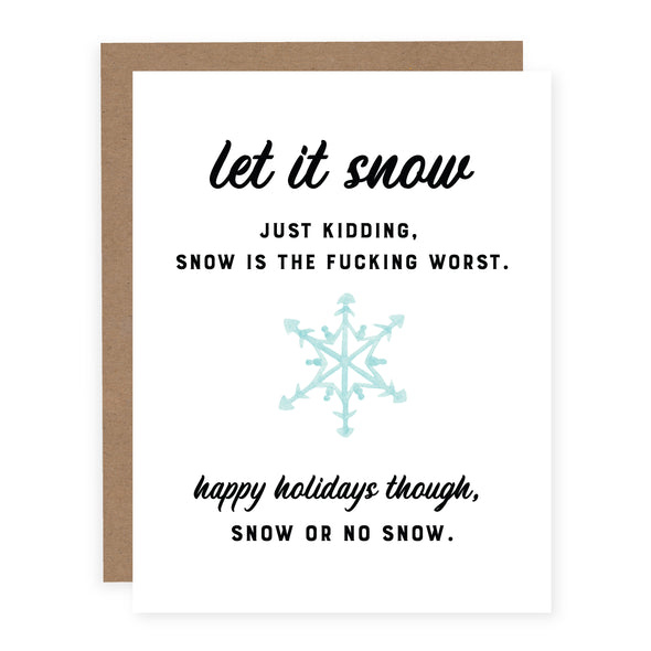 Snow is the Fucking Worst | Card or Boxed Set