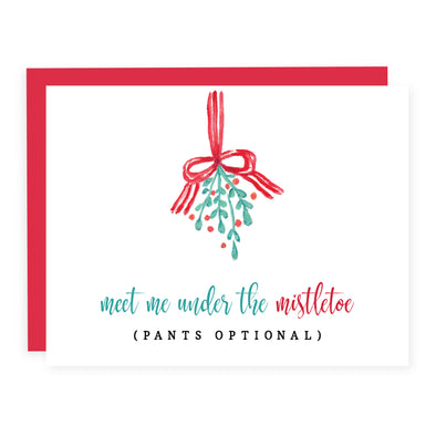 Meet me Under the Mistletoe | Card