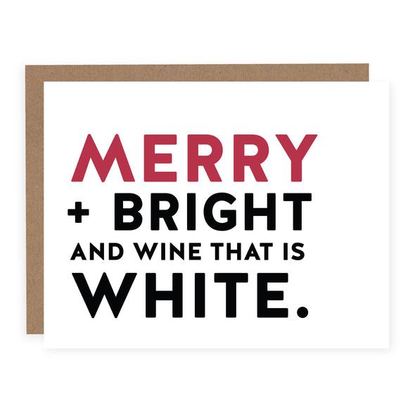 Merry, Bright and Wine that is White | Card or Boxed Set