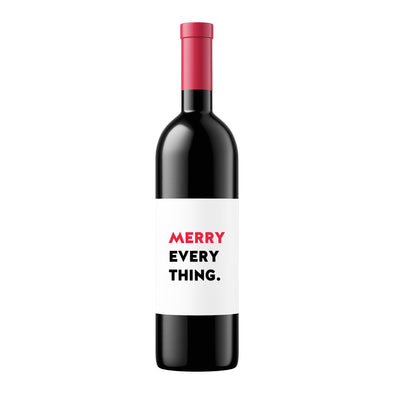 Merry Everything | Wine Label