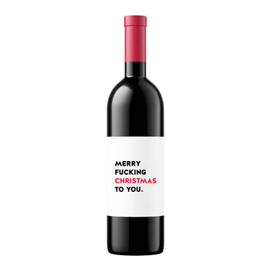 Merry Fucking Christmas | Wine Label