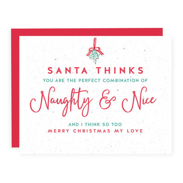 Perfect Combination of Naughty and Nice | Card