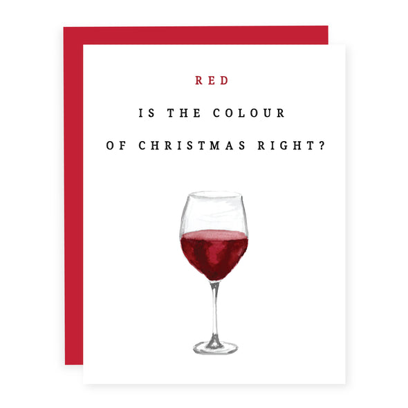 Red is the Colour of Christmas | Card or Boxed Set