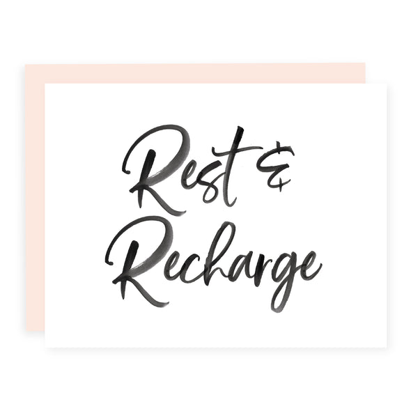 Rest and Recharge | Card