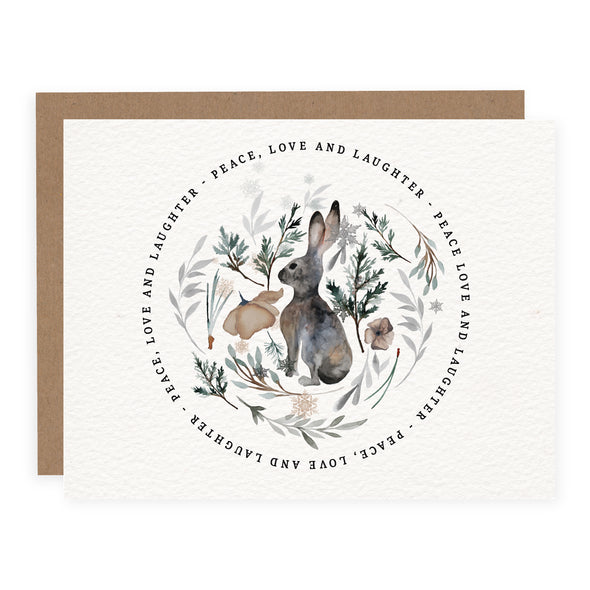 Watercolour Winter Bunny | Card or Boxed Set