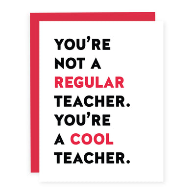 Cool Teacher | Card or Boxed Set