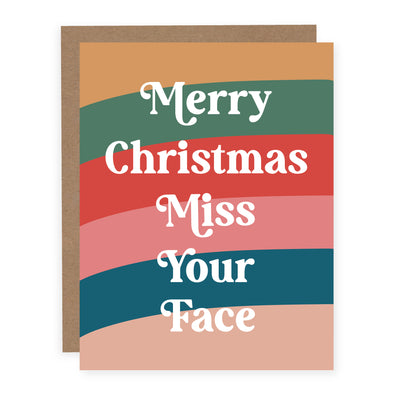 Merry Christmas Miss Your Face | Card or Boxed Set