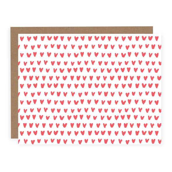 Red Hearts - Flat Notecard Set