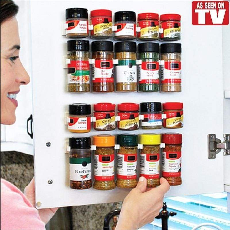 4Pcs Peel And Stick Kitchen Spice Rack Storage - Kitchen