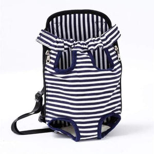 Dog Carrier Backpack - White Stripe / S - Dog