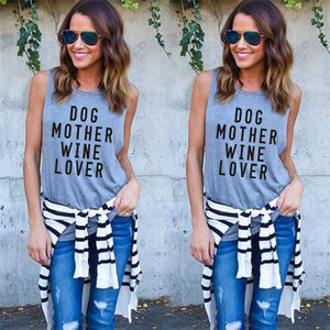Dog Mother Wine Lover Top - Clothing