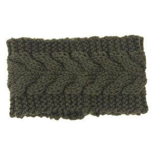 Knitted Winter Warming Headband - 23 - Hair Accessories