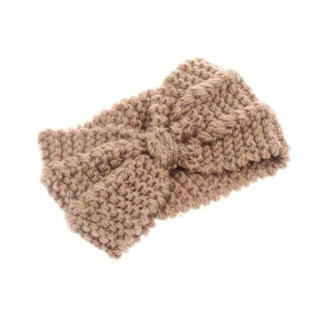 Knitted Winter Warming Headband - Khaki - Hair Accessories