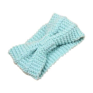 Knitted Winter Warming Headband - Light Green - Hair Accessories