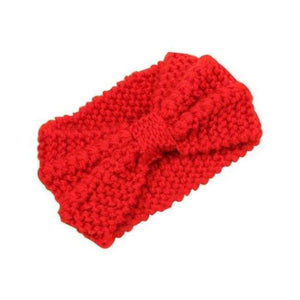 Knitted Winter Warming Headband - Red - Hair Accessories