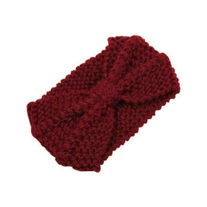 Knitted Winter Warming Headband - Wine - Hair Accessories