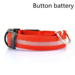 Led Pet Safety Collar - Battery Red / Xs - Dog