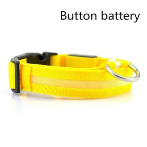 Led Pet Safety Collar - Battery Yellow / Xs - Dog