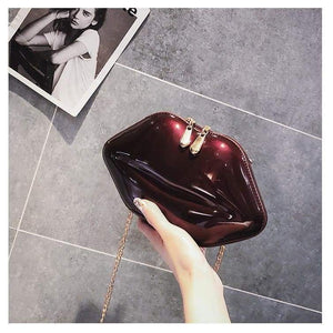 Lips Bag - Burgundy - Bag