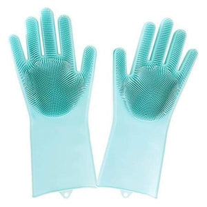 Magic Cleaning Gloves - Green / One Size