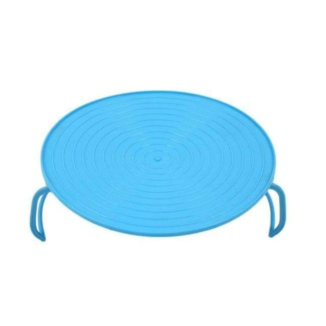 Microwave Plate Rack Cover - Blue - Kitchen