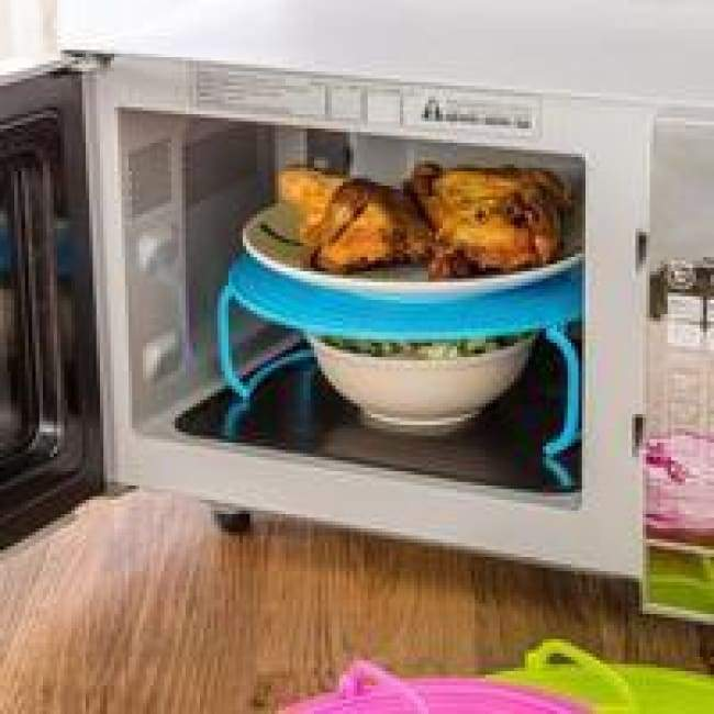 Microwave Plate Rack Cover - Kitchen