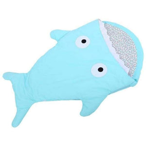 Mr. Shark Baby Sleeping Bag - Light Blue