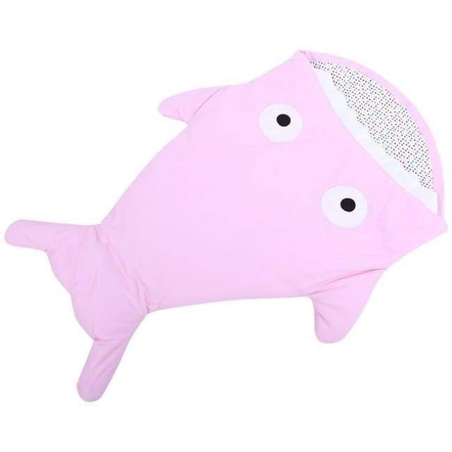 Mr. Shark Baby Sleeping Bag - Pink