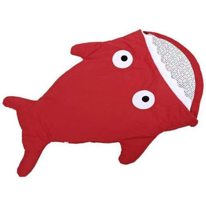 Mr. Shark Baby Sleeping Bag - Red